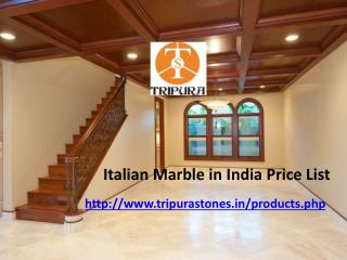 Italian Marble in India Price List