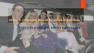 Limousine Would Be a Great Decision Denver CO.