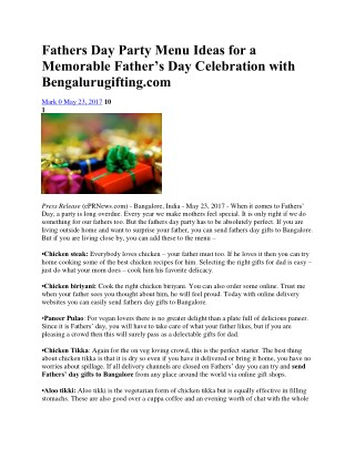 Send Fathers Day Gifts to Bangalore