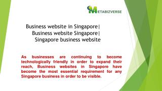 Business website in Singapore| Business website Singapore| Singapore business website| Business website developer Singap