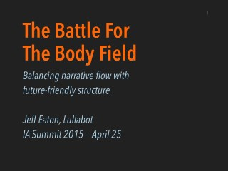 The Battle For The Body Field