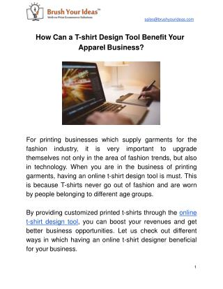 How Can a T-shirt Design Tool Benefit Your Apparel Business?