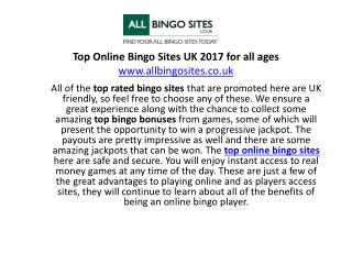Top online Bingo Sites UK 2017 for all ages