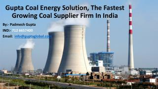 Padmesh Gupta Coal Solution - The Leading Coal Trader In India