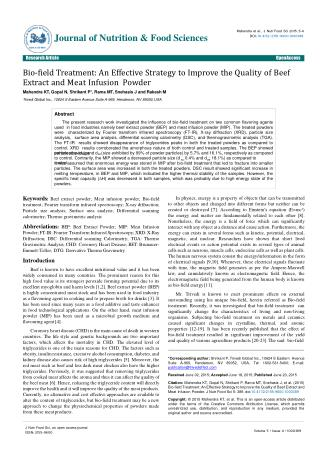 An Effective Strategy to Improve the Quality of Beef Extract and Meat Infusion Powder