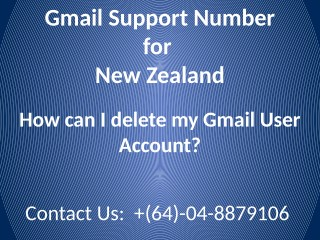 How can I delete my Gmail User Account?