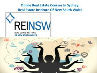 Online Real Estate Courses In Sydney: Real Estate Institute Of New South Wales