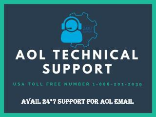 Avail 24*7 Support for AOL Email