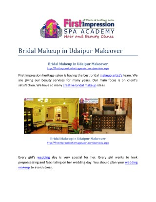 Bridal Makeup in Udaipur Makeover