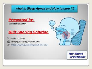 What is Sleep Apnea and How to cure it?