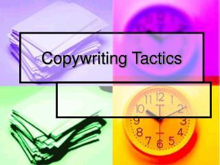 Copywriting Tactics