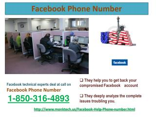 Facebook Phone Number Get Immediate Reliable  @ 1-850-316-4893