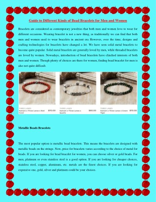 Guide to Different Kinds of Bead Bracelets for Men and Women