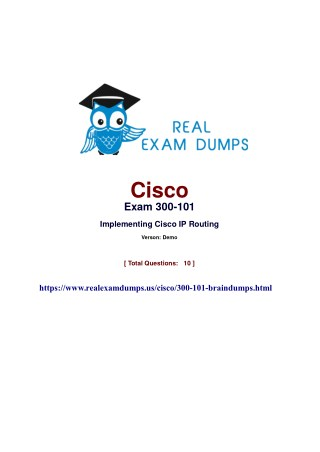 Prepare Cisco 300-101 Exam - with 100% Passing Guarantee