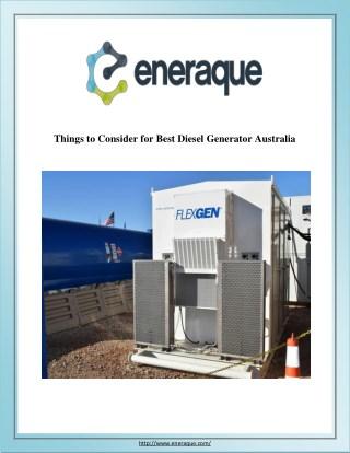Things to Consider for Best Diesel Generator Australia