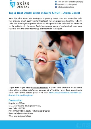 Things to Consider before Choosing Dental Clinic in Delhi NCR