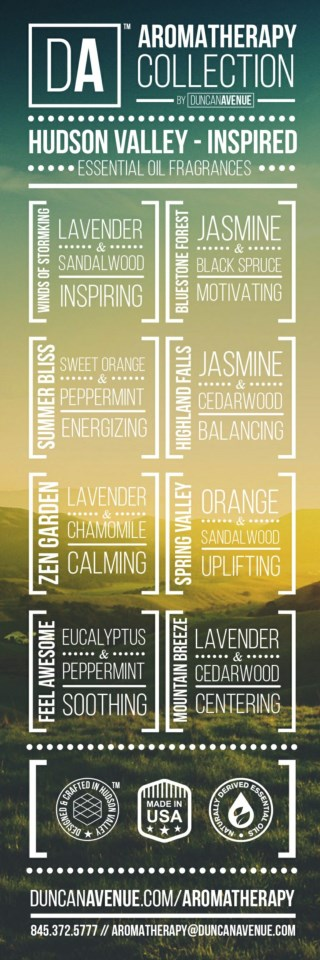 DA Aromatherapy Collection Infographic about Organic Essential Oils