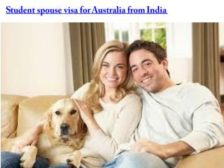 student spouse visa for australia from india