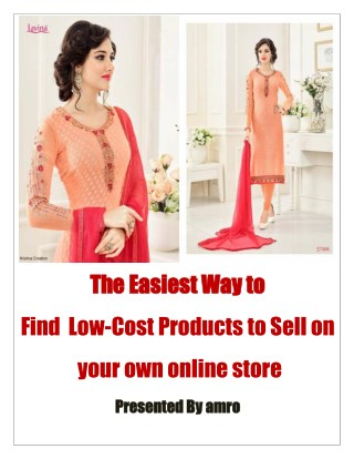 The easiest Way to find low cost products to Sell online store
