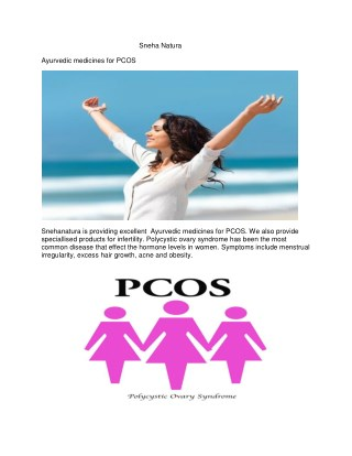 Ayurvedic medicines for PCOS