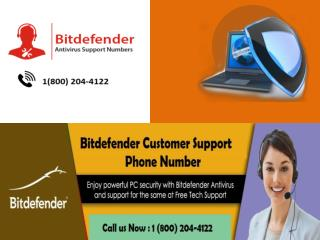 1 (800) 204-4122 Bitdefender Customer Support Number