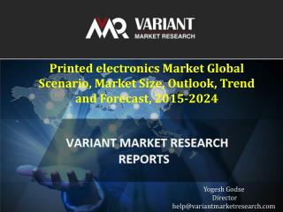 Printed electronics Market Global Scenario, Market Size, Outlook, Trend and Forecast, 2015-2024