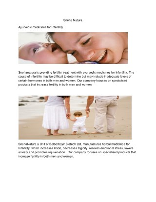Ayurvedic medicines for Infertility