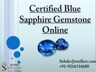 Certified Blue Sapphire Gemstone Online