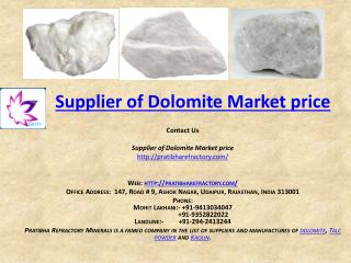 Supplier of Dolomite market price