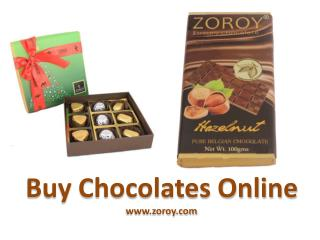 Buy Wonderful Chocolates Online at Zoroy