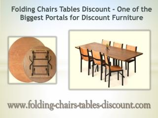 Folding Chairs Tables Discount - One of the Biggest Portals for Discount Furniture