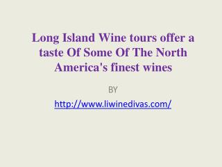 Long Island Wine tours offer a taste Of Some Of The North America's finest wines