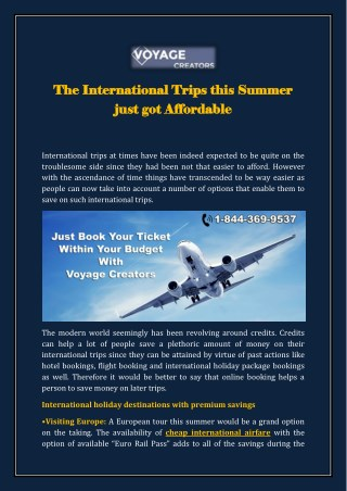 Online cheap Air Ticket Booking with Voyage Creators