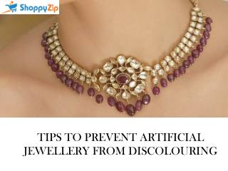 Tips to prevent Fashion Jewellery From Discolouring