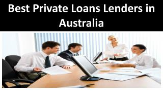 Best Private Loans Lenders in Australia