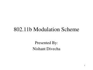 802.11b Modulation Scheme