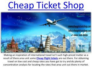Online Booking Cheap International Flight Ticket On Cheap Ticket Shop