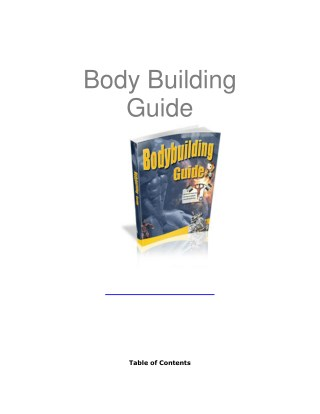 Bodybuilding Guide 2017