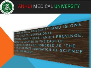 Anhui Medical University | Onepoint Education Consultancy