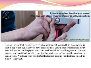 Residential Locksmith Beachwood
