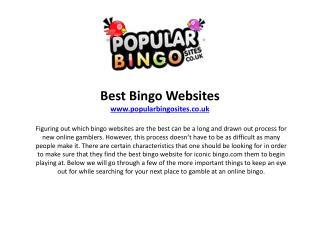 What Makes Online Bingo Games So Popular?