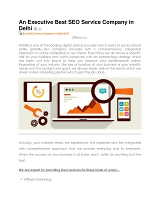 An Executive Best SEO Service Company in Delhi