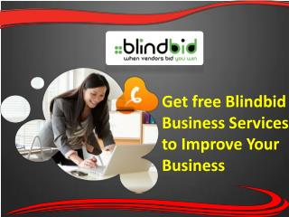 Five simple steps for business services by Blindbid