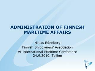 Administration of Finnish maritime affairs