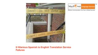 9 Hilarious Spanish to English Translation Services Failures