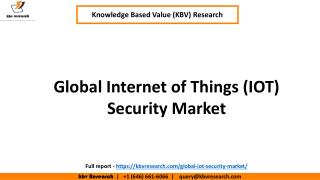 Global Internet of Things ( IOT ) Security Market,  Size