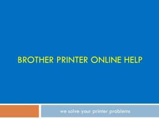 Brother Printers Technical Support