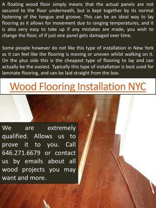 Wood flooring installation ny
