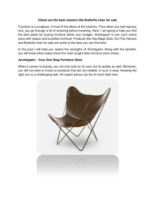 Check out the best classics like Butterfly chair for sale