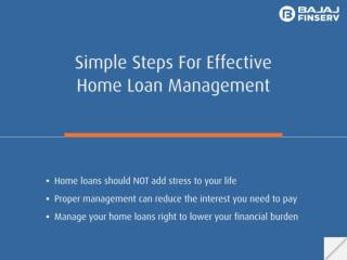 Simple Steps for Effective Home Loan Management